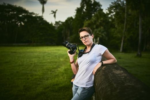 Johanna Green in Angkor Wat, Cambodia